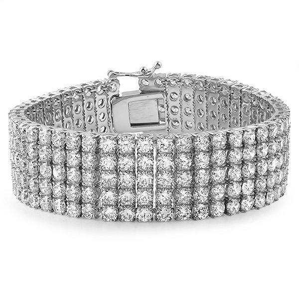5 Row Lab Made 316L Stainless Steel Bracelet