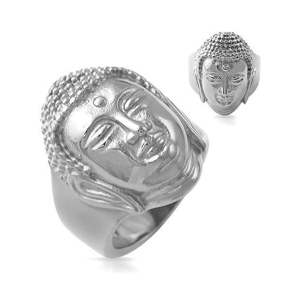 Buddha Ring Stainless Steel