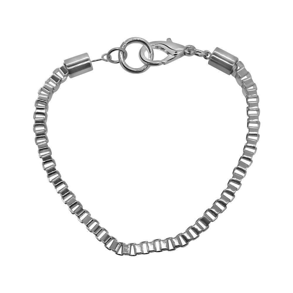 Box Bracelet Silver Plated 4MM