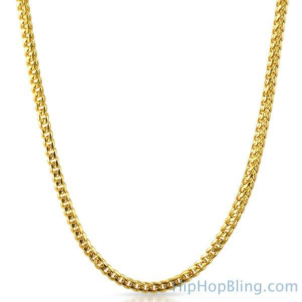 IP Gold Miami Franco Chain 316L Stainless Steel