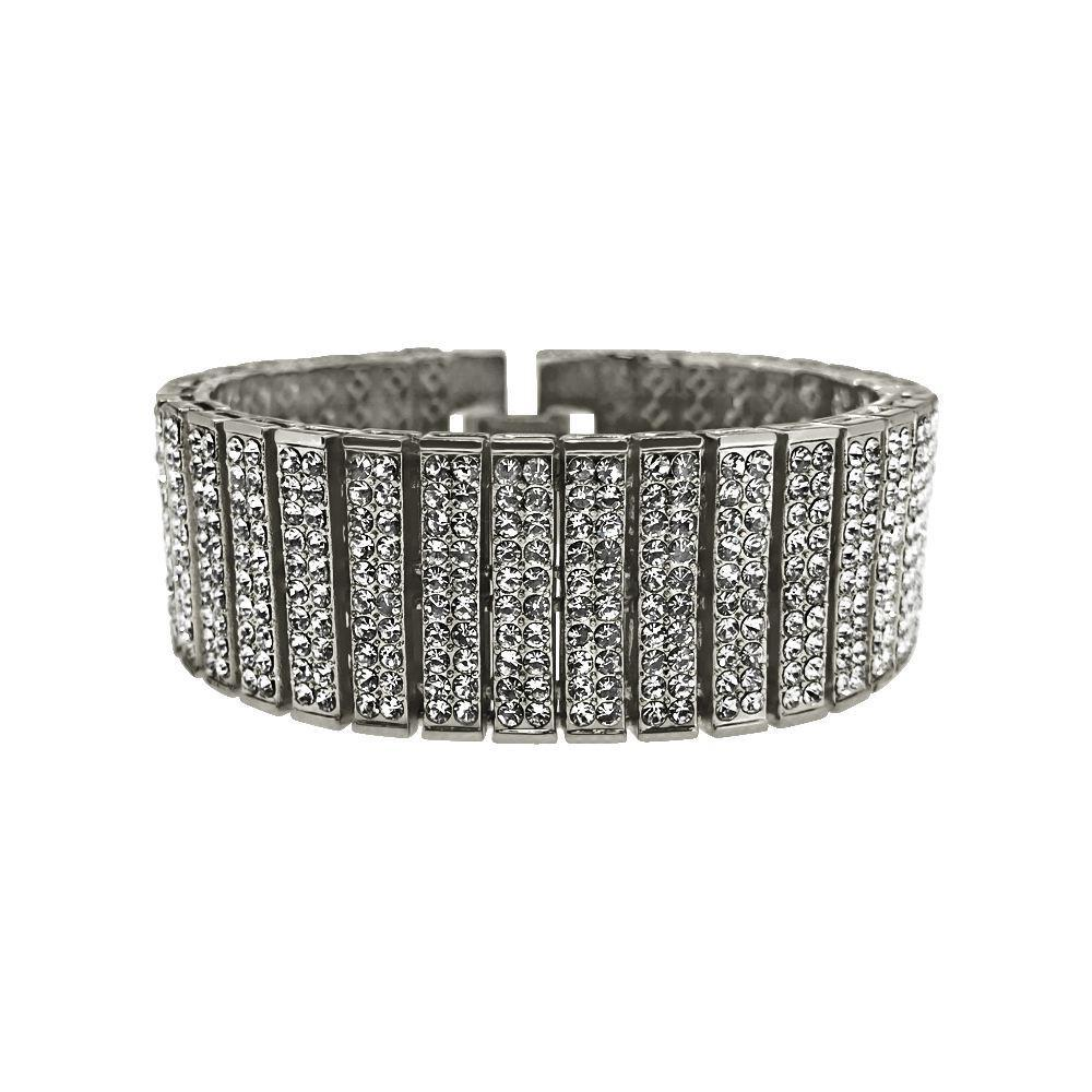 10 Row Rhodium Bling Bling Bracelet