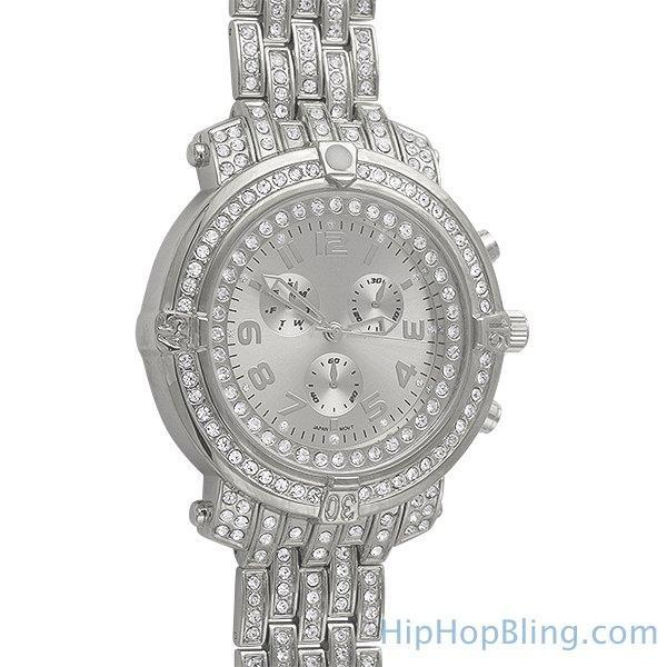 Custom Sport Platinum Bling Bling Watch