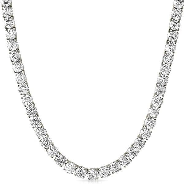 6MM CZ Stainless Steel 1 Row Bling Tennis Chain