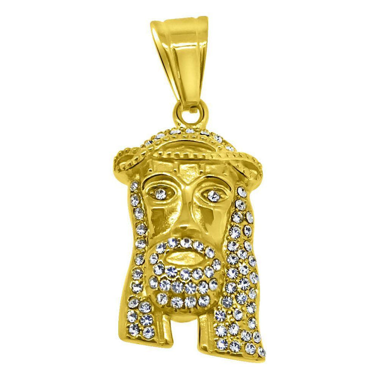 Gold Mini Jesus Stainless Steel Jesus Pendant