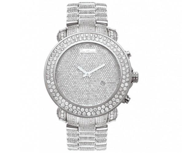 23.90ct All Diamond Joe Rodeo Watch BLING BLING