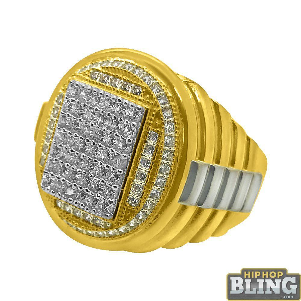 10K Gold Emperor CZ Bling Mens Ring