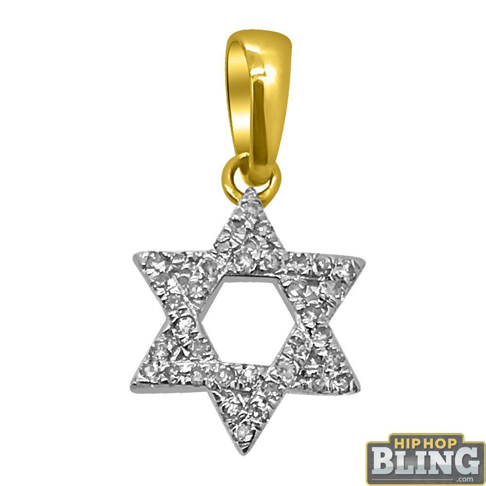 Centimeter Star of David 14K Diamond Pendant
