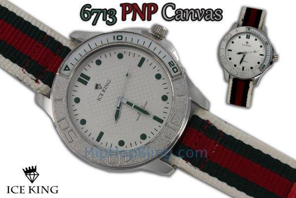 Italy Colors Canvas Fashion Watch White