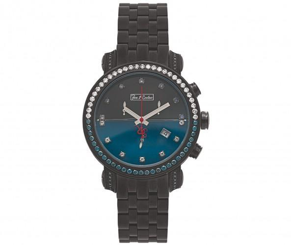 Blue & White Diamond Joe Rodeo Black Watch 4.30ct