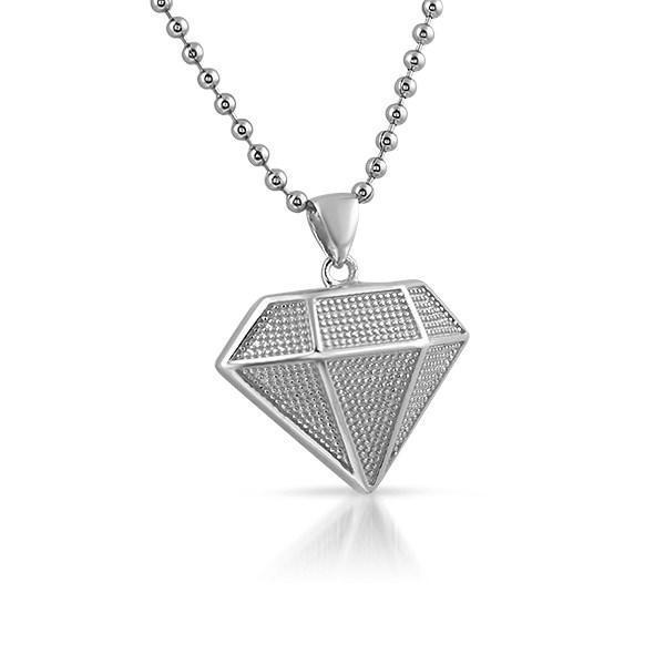 Mini Diamond Pendant .925 Sterling Silver