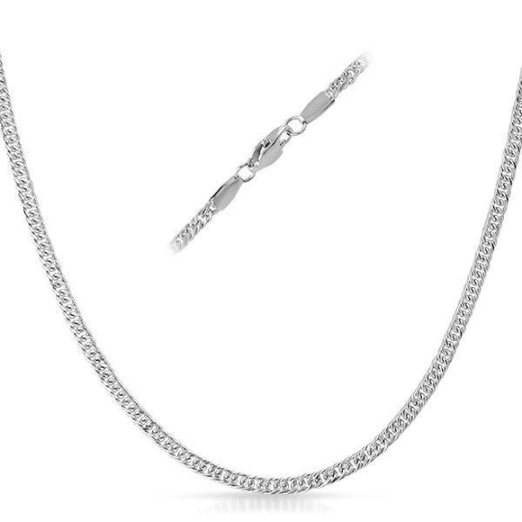 Small Round Link Stainless Steel Chain Necklace 3MM