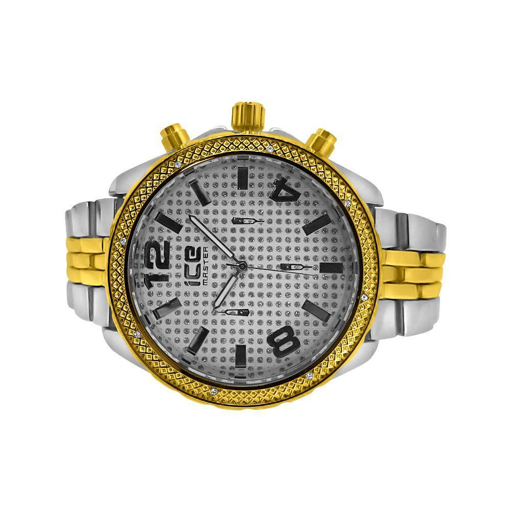 2-Tone Sport Jubilee Bling Watch