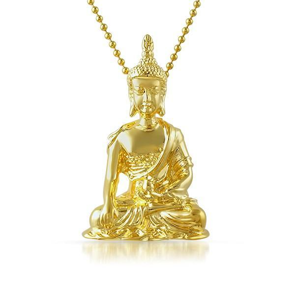 Buddha Sitting Gold 3D Detailed Pendant