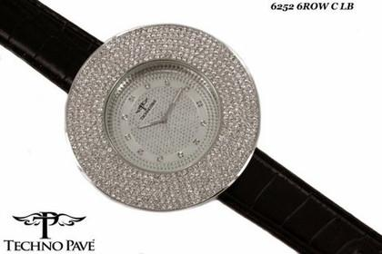 6 Row Bling Bling Techno Pave Watch