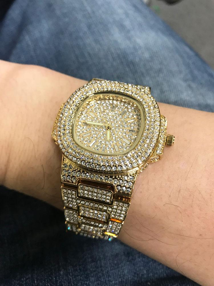 Custom Bling Bling Rose Gold Blizzard Watch