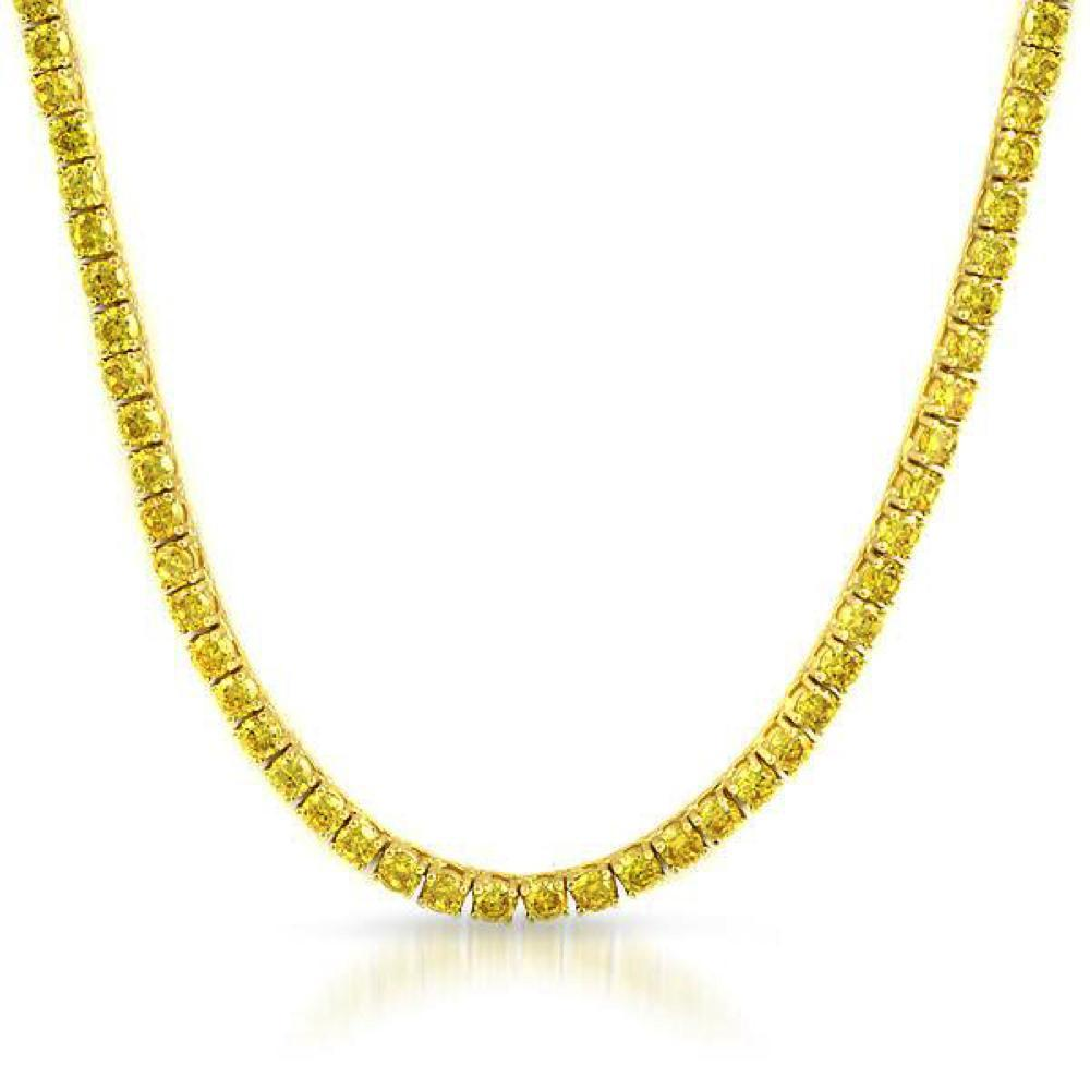 Lemonade 4MM CZ Gold Stainless Steel Tennis Chain