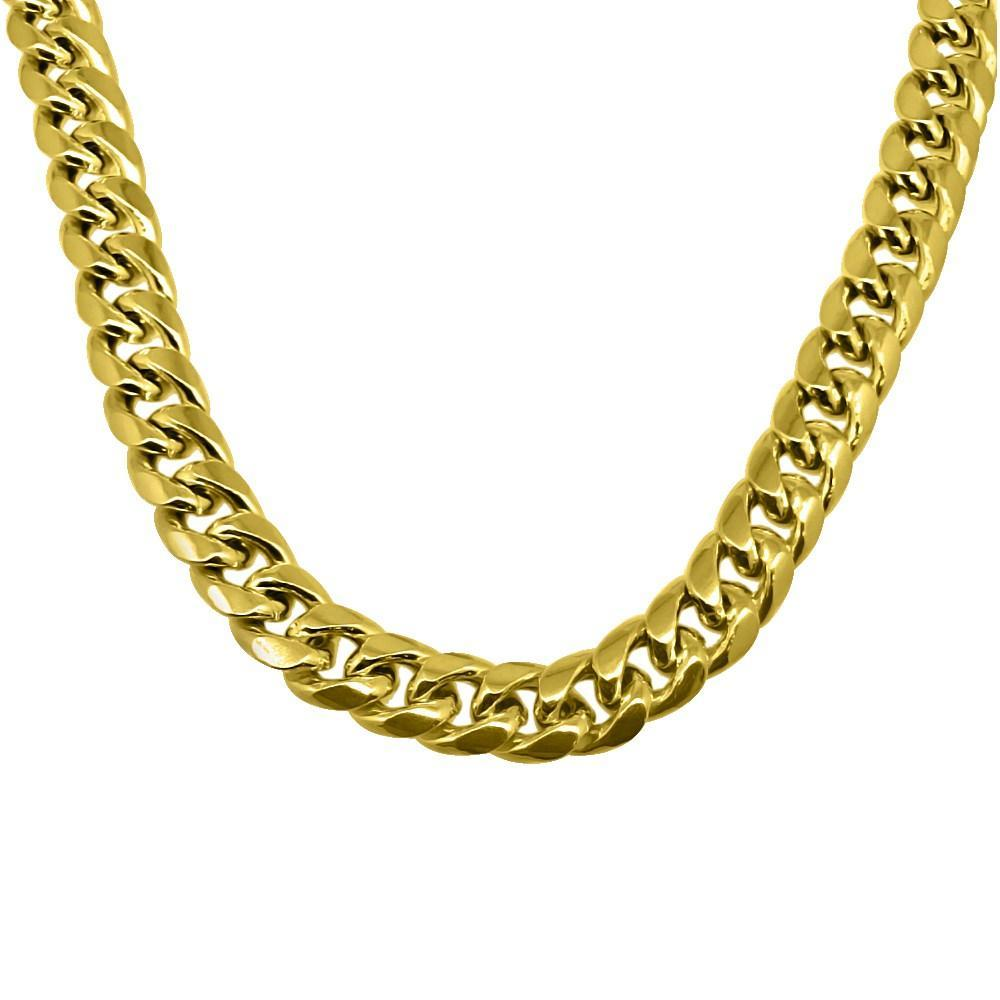 10K Yellow Gold 10MM Miami Cuban Chain