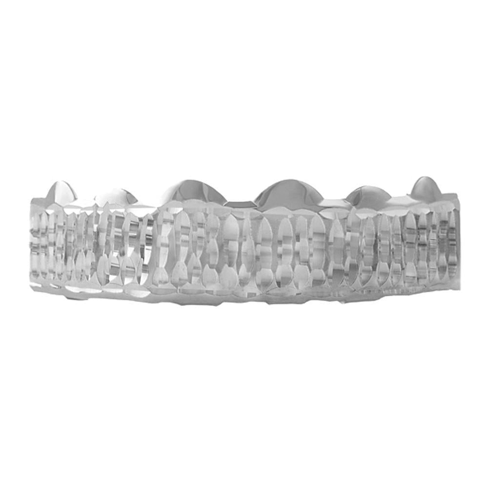 Diamond Cut Grillz Bar in Rhodium Top