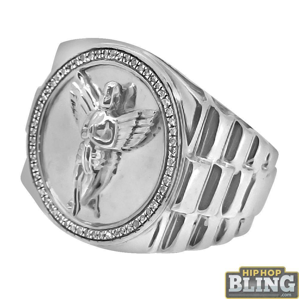 Cherub Angel Diamond Mens Hip Hop Ring