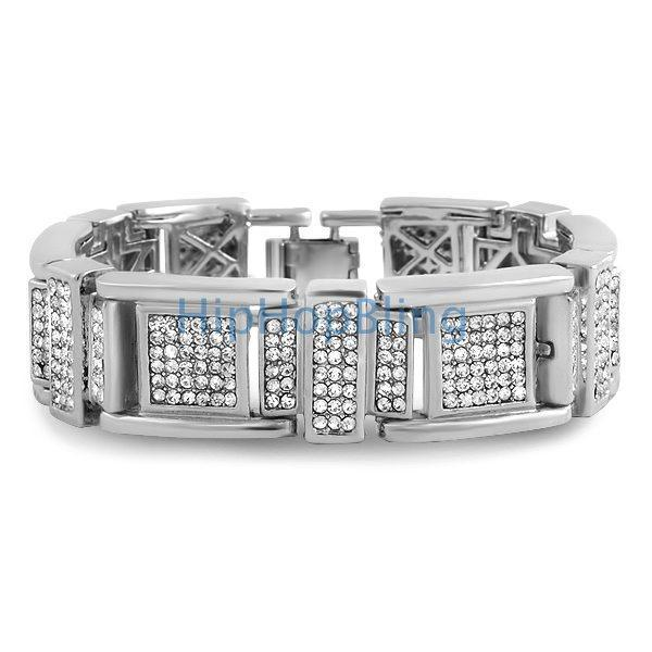 Fresh Rhodium Iced Out Bracelet