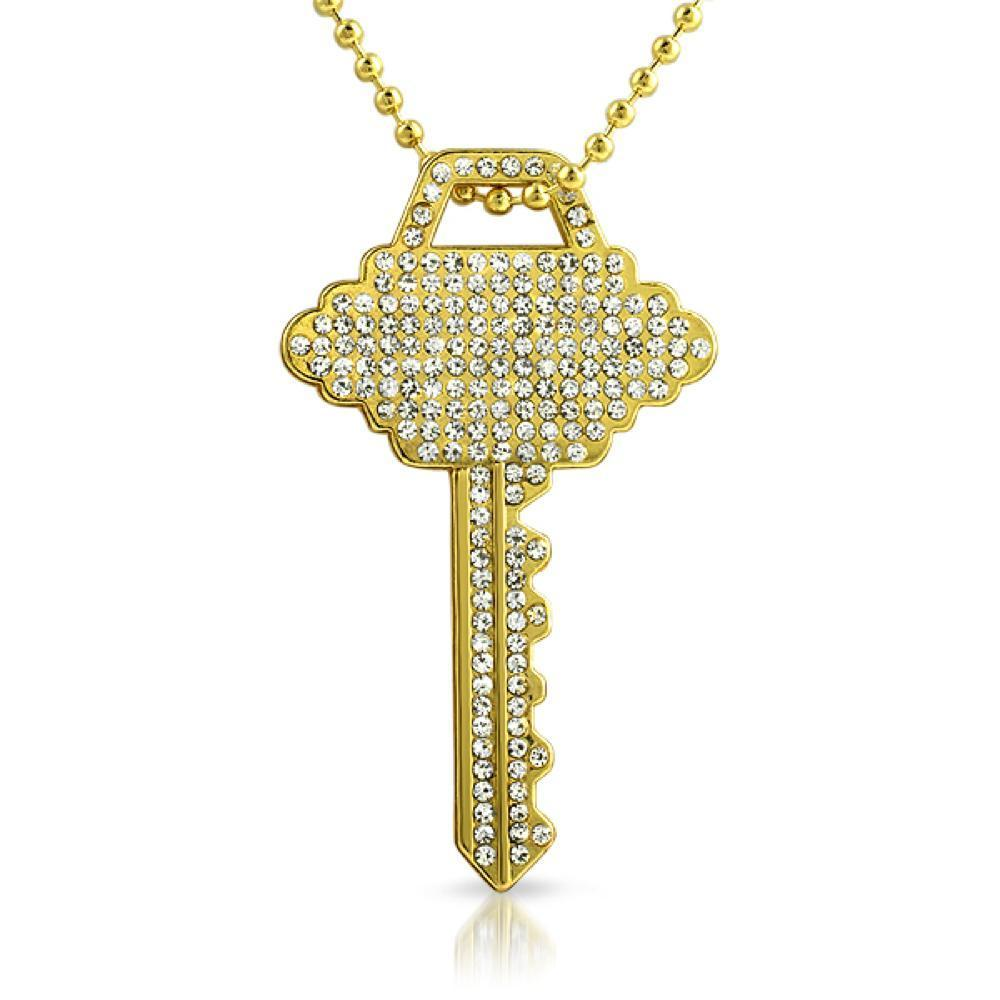 House Key Gold Pendant #1
