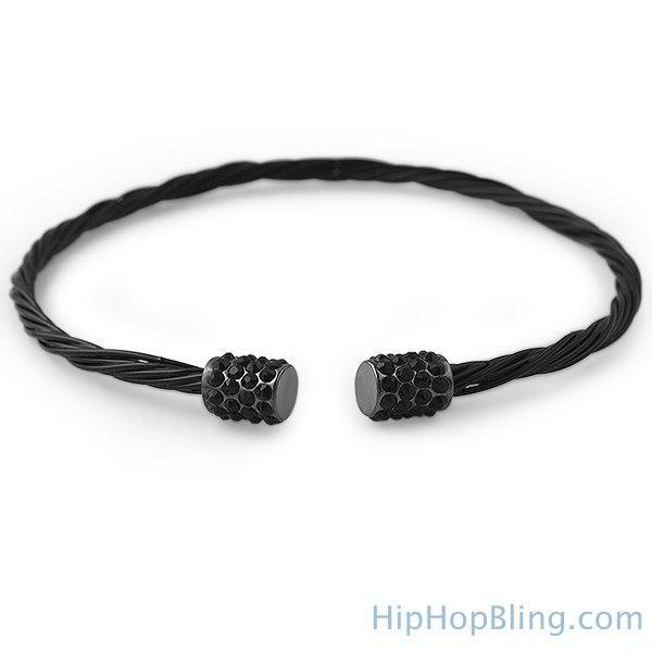 All Black Guitar String Style Bracelet