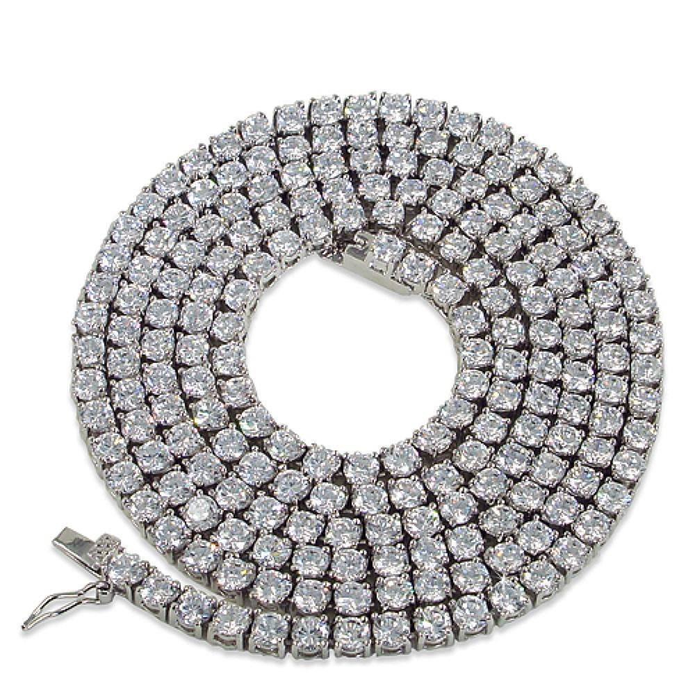 Stay Shining Best Quality Stainless Steel 1 Row 4MM CZ Tennis Chain