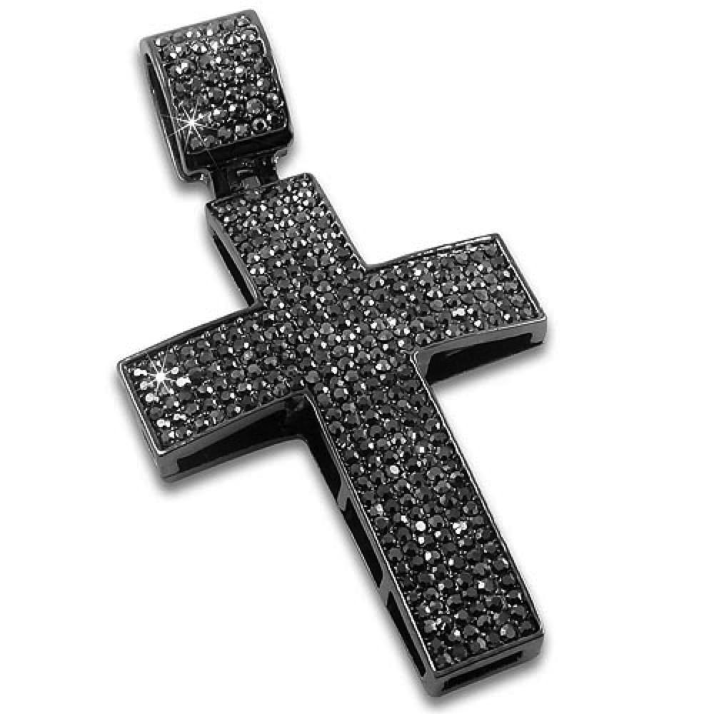 Black Ice Blizzard Hematite Cross