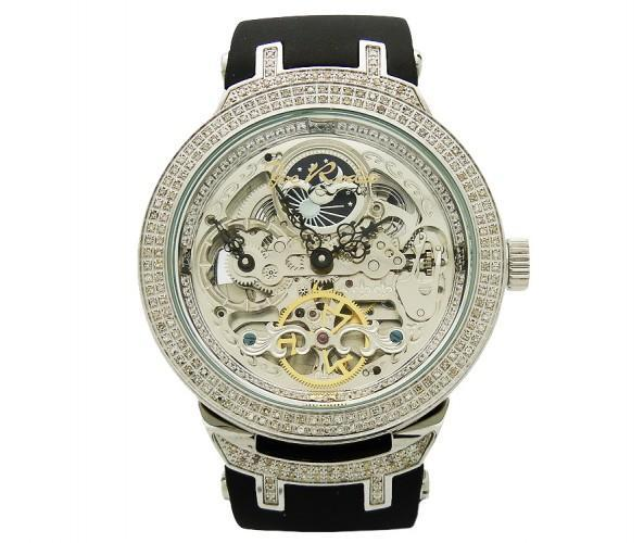 Full Skeleton Watch Joe Rodeo 2.20ct Diamonds