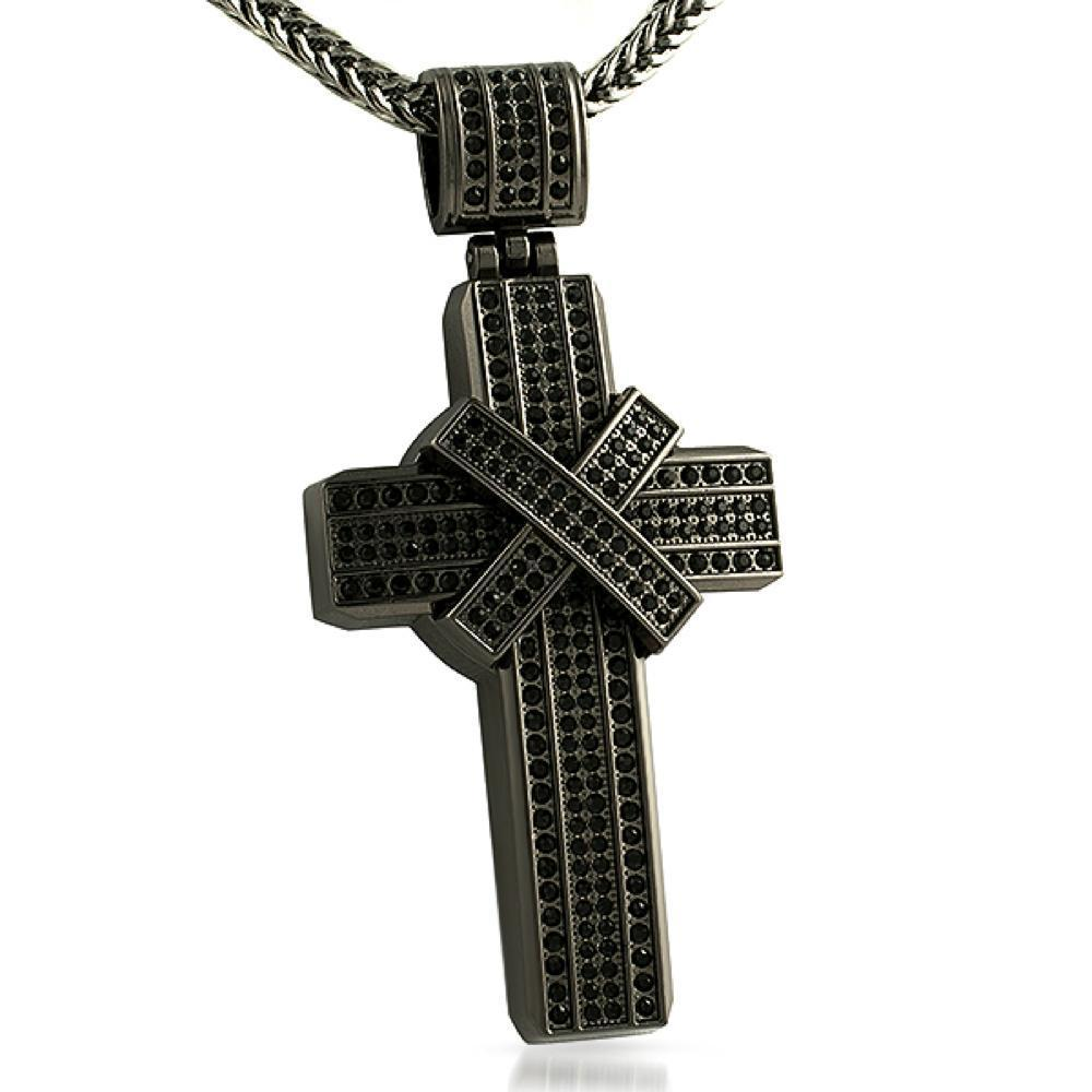 Thick X Cross Pendant