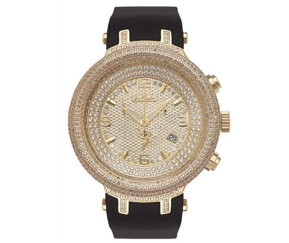 6.50ct Diamond Domed Bezel Golden Joe Rodeo Master Watch