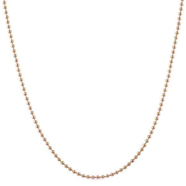 2MM Rose Gold Plated Bead Chain