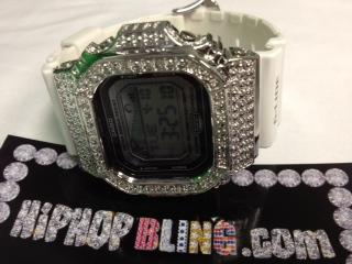Custom G Shock GLX-5600 w/ .15cttw Diamond Case White Band