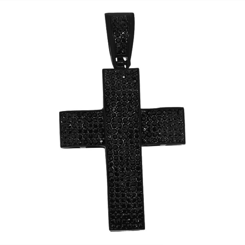 Thick Black on Black Cross Jet