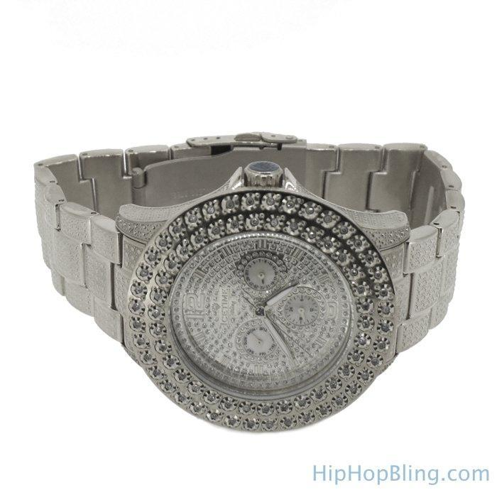 2 Row .50cttw Diamond Hip Hop Watch