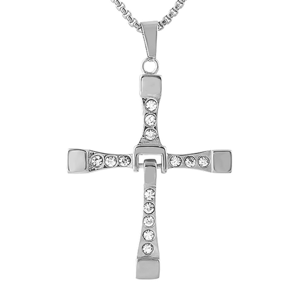 Fast Furious Inspired Stainless Steel Cross
