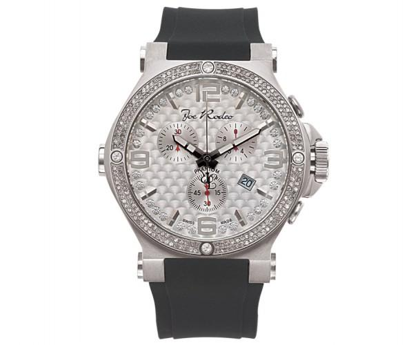 Bling Joe Rodeo Phantom Watch 2.25ct Diamond Rubber Strap