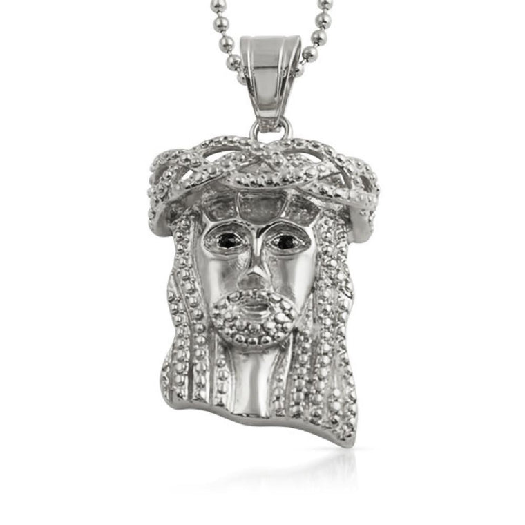 3D Crown of Thorns Mini Jesus Pendant Stainless Steel