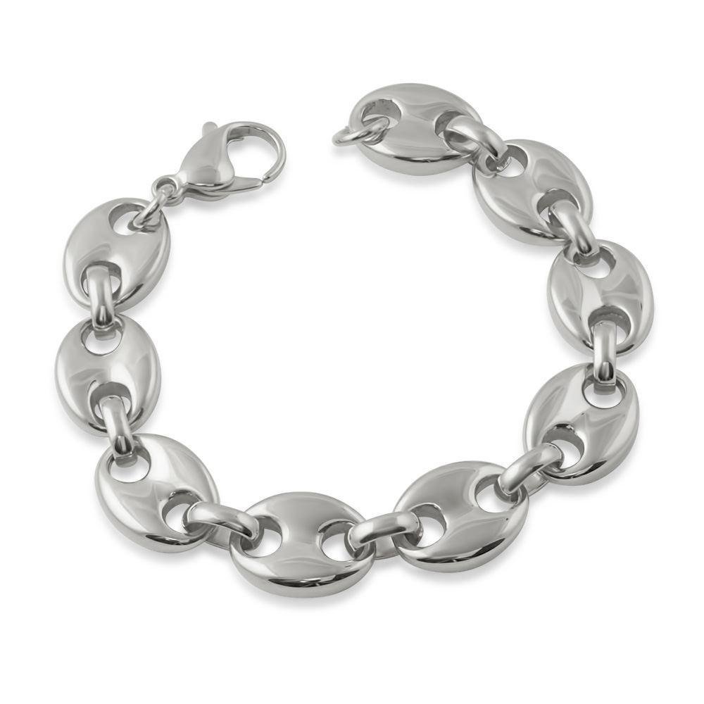 Pignose Bubble Mariner Polished Hip Hop Bracelet 13MM