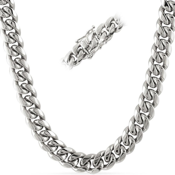 No Fade Miami Cuban Chain Stainless Steel 14MM