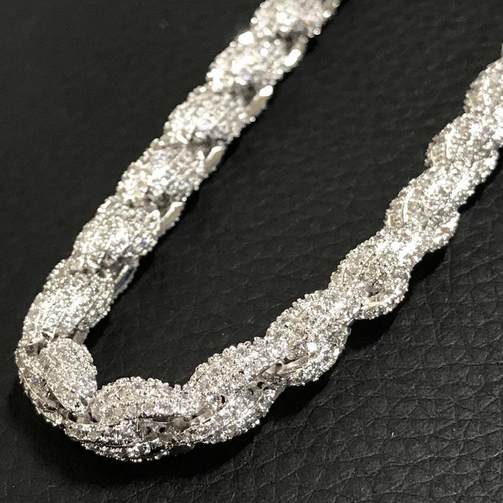 .925 Sterling Silver Bling Bling Rope Chain 8MM