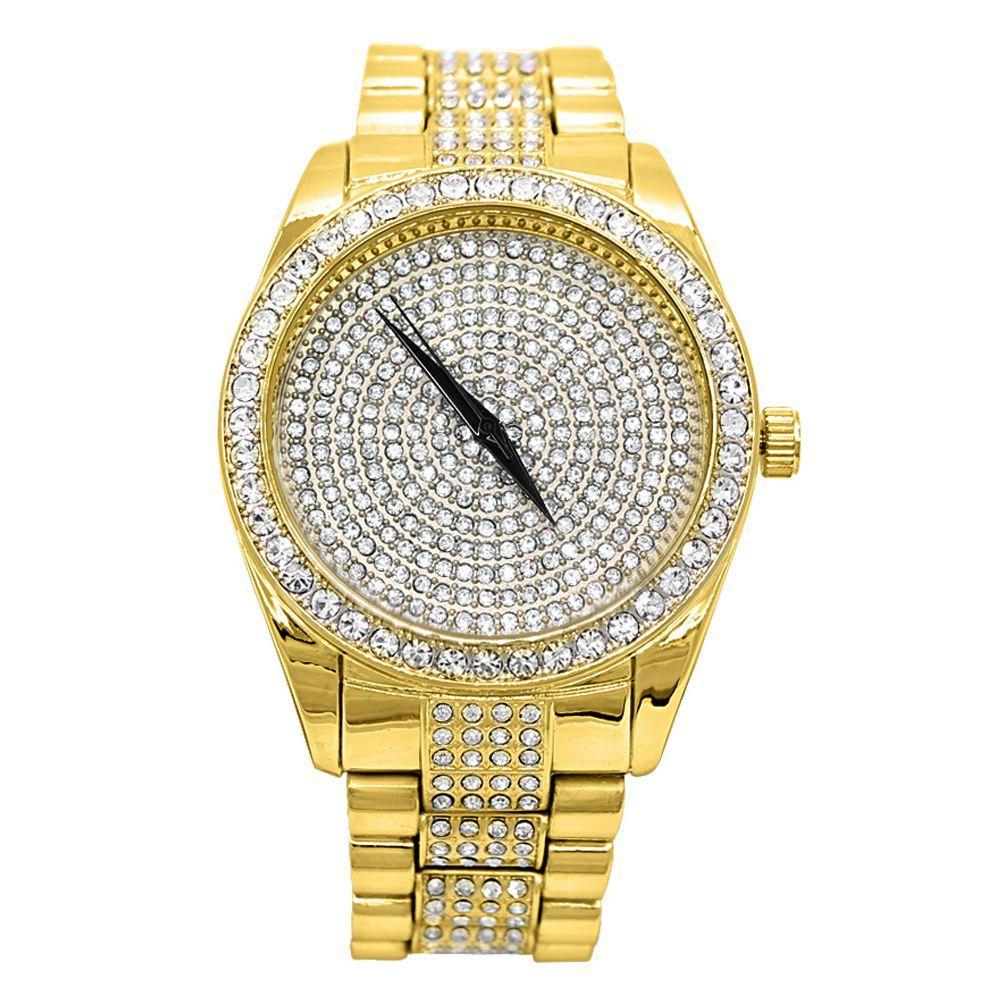 Iced Center Dress Hip Hop Watch