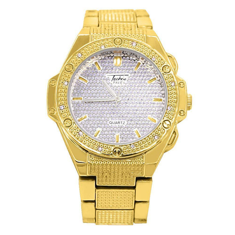 Futuristic Bling Bling Hip Hop Watch