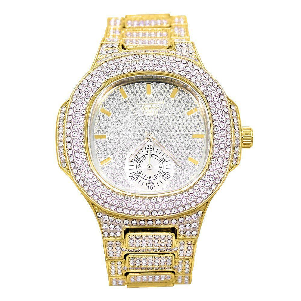 Modern Full Iced Out Chrono Bling Bling Hip Hop Watch
