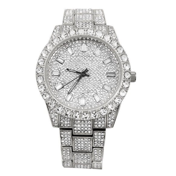 Big Rocks Oyster Iced Out Bling Hip Hop Watch