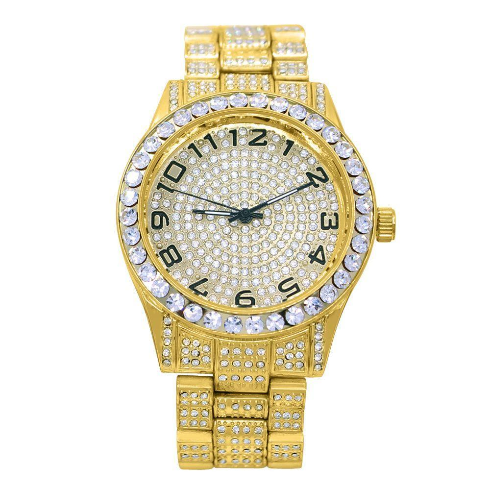 Big Baller Iced Out Bling Hip Hop Watch