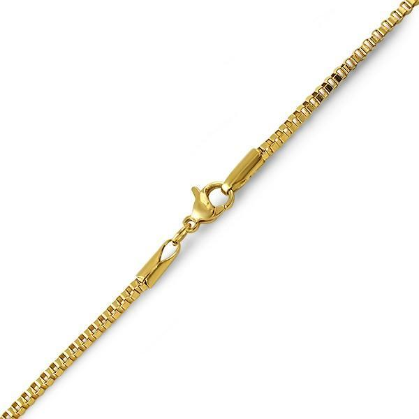 Box IP Gold Stainless Steel Bracelet 2MM