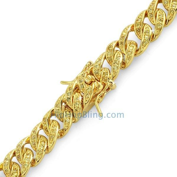 CZ Lemonade Cuban Bling Bling Bracelet