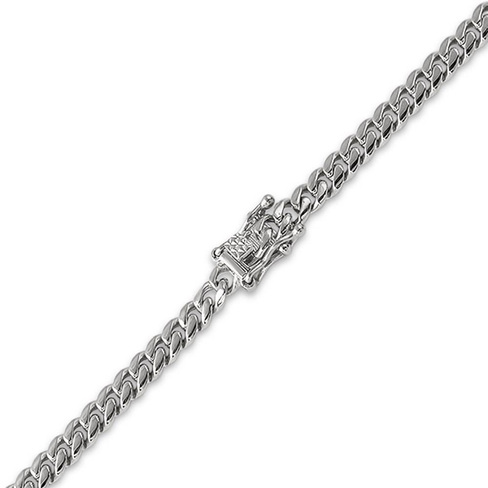 6MM Miami Cuban Steel Bracelet Triple Lock