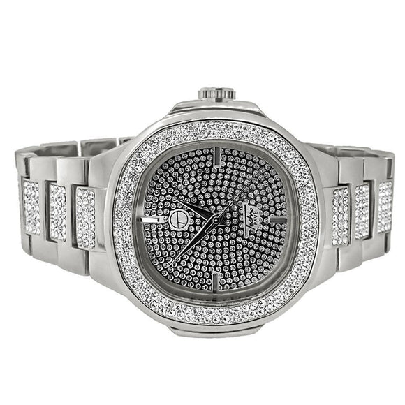 Bling Bling Watch Silver Modern Style
